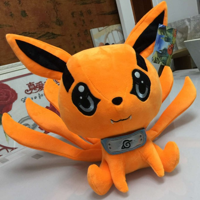kawaii 25 30cm naruto uzumaki kyuubi kurama nine tales fox demon plush soft animal stuffed toy
