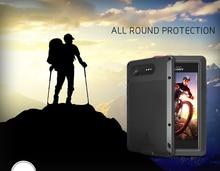 Pour Sony Xperia XZ1 coque damour MEI résistant aux chocs et à la saleté coque de téléphone en métal résistant à leau pour Sony Xperia XZ1 Compact