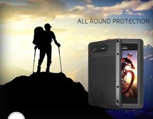 Image 1 - עבור Sony Xperia XZ1 Case אהבת מיי עפר הלם הוכחת מים עמיד מתכת שריון כיסוי טלפון עבור Sony Xperia XZ1 קומפקטי