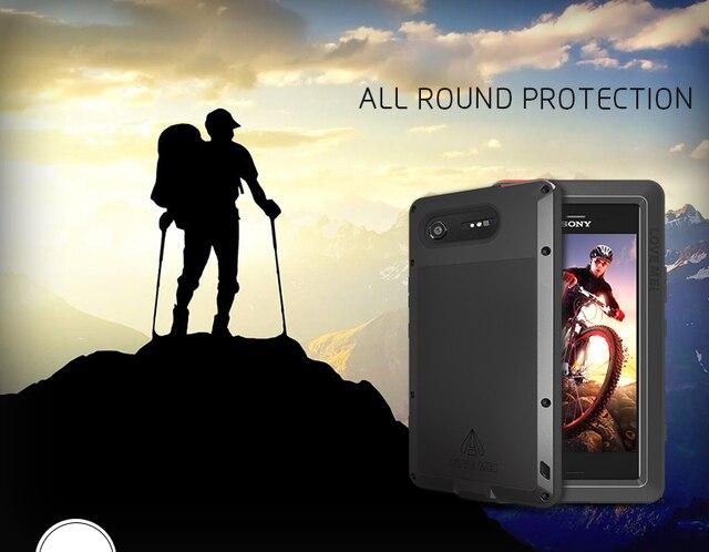 עבור Sony Xperia XZ1 Case אהבת מיי עפר הלם הוכחת מים עמיד מתכת שריון כיסוי טלפון עבור Sony Xperia XZ1 קומפקטי