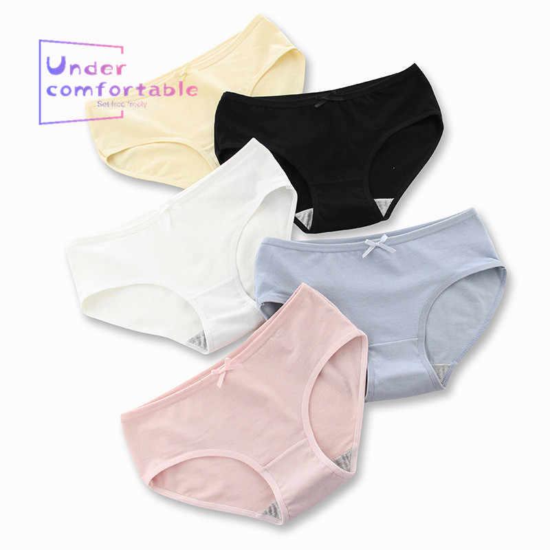 2019 Bragas para mujer M-XXL Simple Color puro cintura XL más paquete de ropa interior de algodón de cadera ropa interior de mujer calzoncillos ok