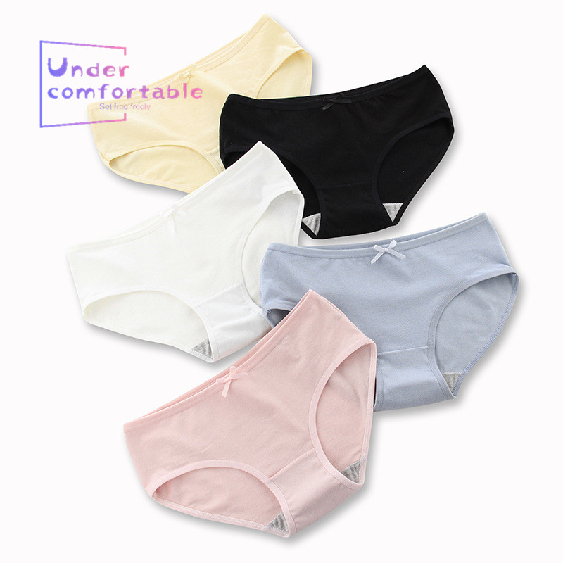 2019   Panties   for Women M-XXL Simple Pure Color Waist XL Plus Fat Underwear Package Hip Cotton Women's Underwear Underpants ok
