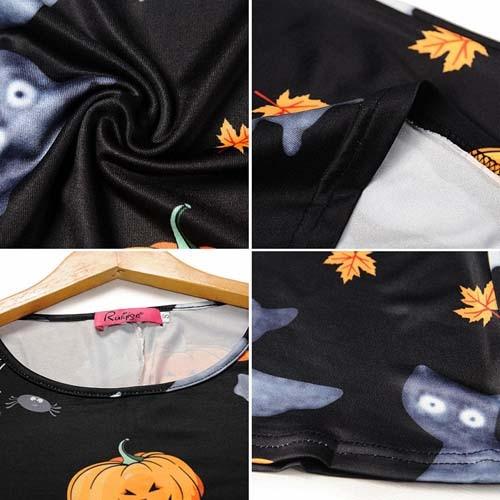 Imvation Скелет платье женские Хэллоуин кости принт эластичный Bodycon  маскарадный костюм fff7781edd5