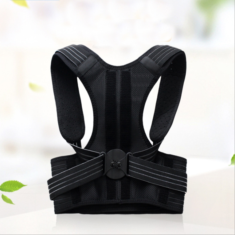 blessfun Adjustable Shoulder Bandage Back Belt Posture Corrector Back Support Brace Posture Belt Back Brace Rectify Health Care aibikang steel posture corrector back brace and adjustable double pull shoulder back support belt xxl 52 black
