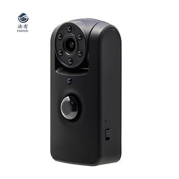 цена на MINI PIR Motion Detection Camera IR Night Vision 6 LED Lamps Lens Rotation Wide Angle 140 Degree Longtime Standby HD 1080P Memor