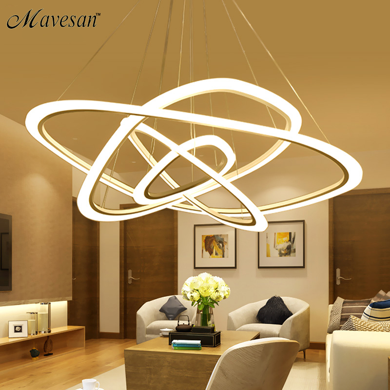 Modern LED pendant lights for living room dining room 4/3/2 Triangle Rings acrylic aluminum body LED Pendant LampModern LED pendant lights for living room dining room 4/3/2 Triangle Rings acrylic aluminum body LED Pendant Lamp