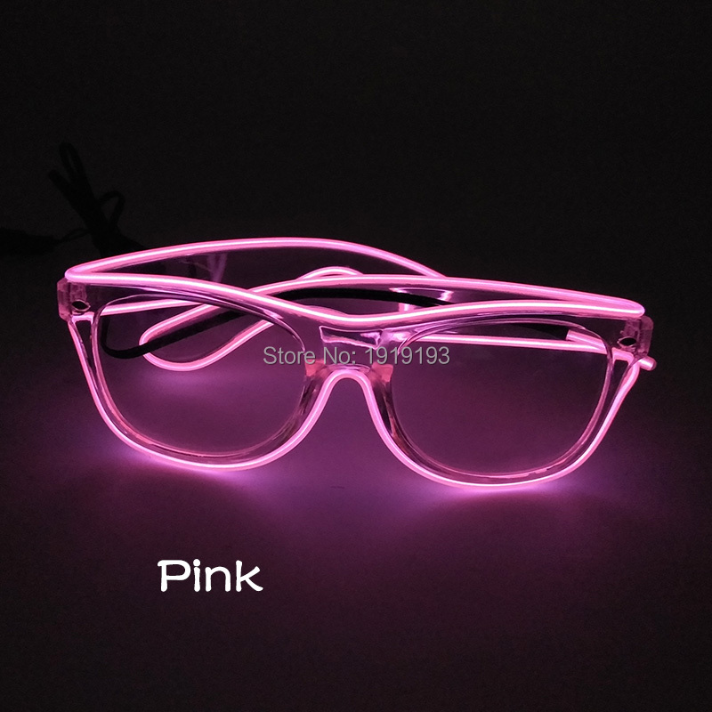 Wholesale 10 Colors Hipster Favors Light Up Sparkling Sunglasses Glamorous Neon Led Strip Glasses as Night Club Concert Decor topeak outdoor sports cycling photochromic sun glasses bicycle sunglasses mtb nxt lenses glasses eyewear goggles 3 colors
