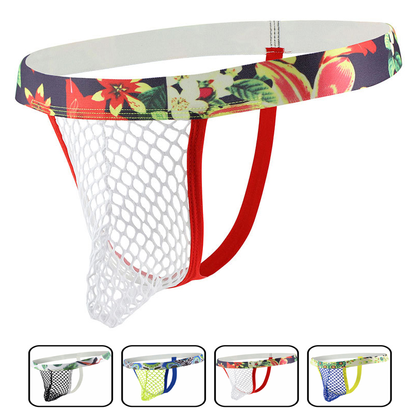 Penis Pouch Sissy Panties String New Mesh Hollow Out Men Underwear G String And Thongs Gay Jockstrap Backless See Through Erotic