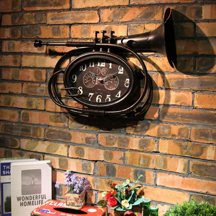 Metal Creative Living Room Wall Clock Vintage Designer Wall Clocks Decorative Relogio Parede Watch Reloj Mural Adornment 50A0886