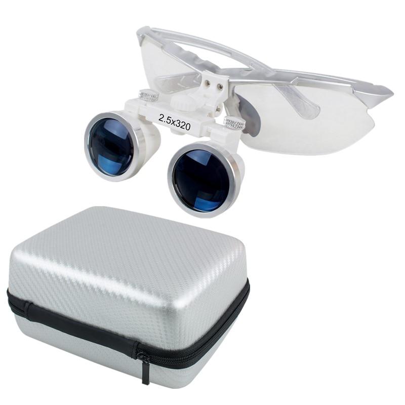 2.5x320mm Dentist Dental Surgical Medical Binocular Loupes Optical Glass Loupe