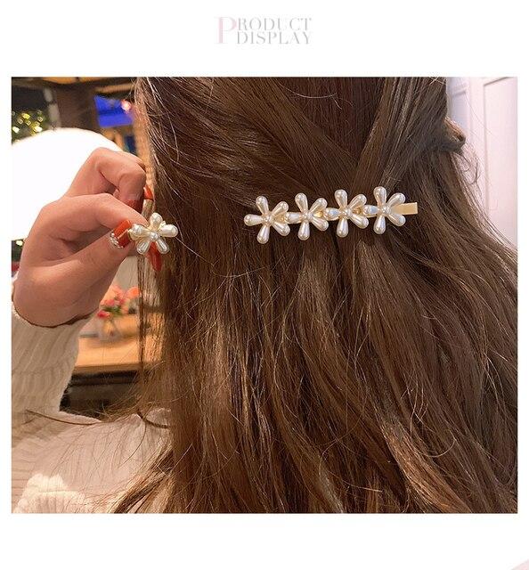 Заколка для волос chimera с цветочным жемчугом утконосом 2 шт/компл