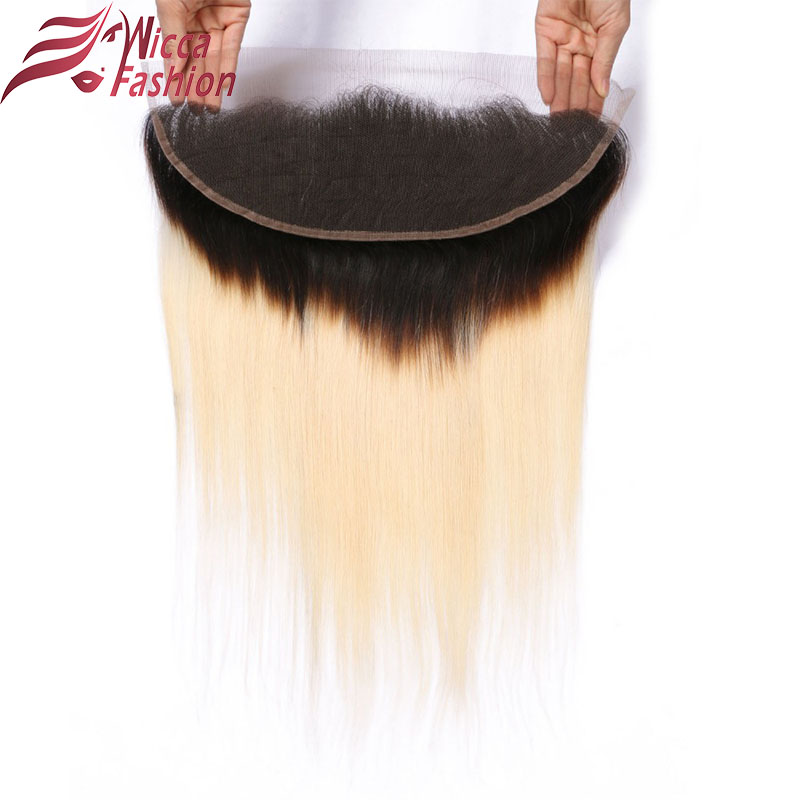 Dream Beauty Brazilian Non Remy silky Straight Hair omber 1b 613 13 4 Lace Frontal Closure