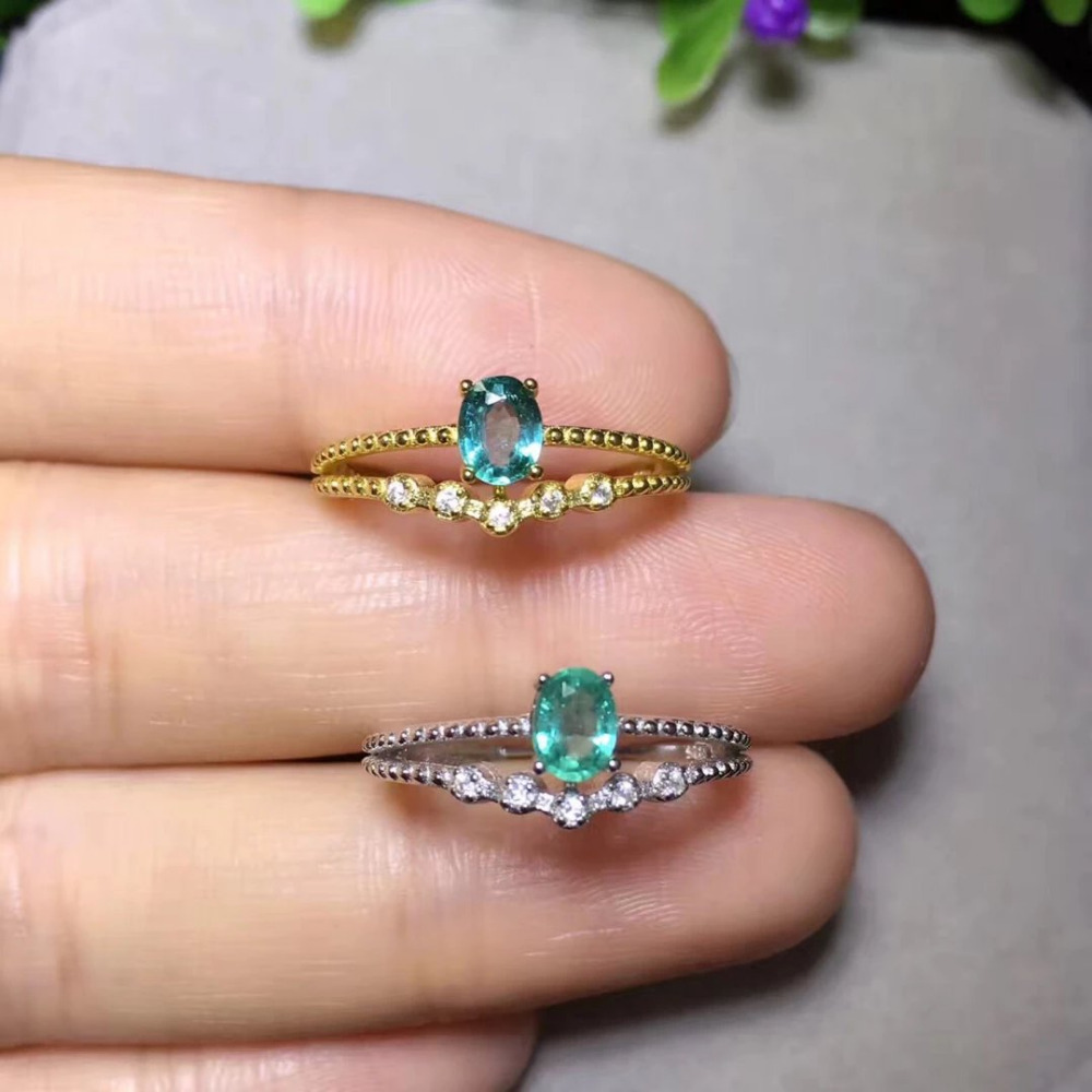 2017 Jewelry Qi Xuan_Fashion Jewelry_Colombia Green Stones Fashion Rings_S925 Solid Silver Woman Rings_Factory Directly Sales 2017 rushed qi xuan fashion jewelry