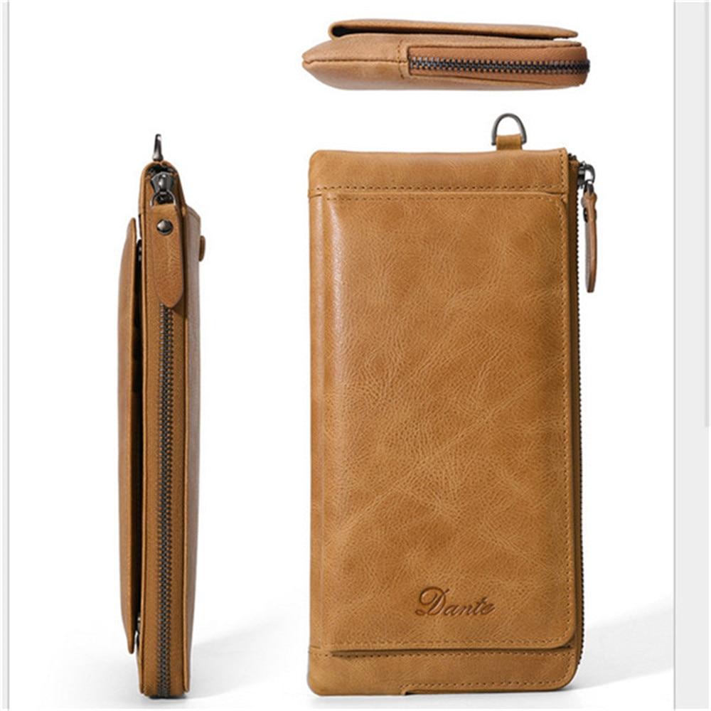 ФОТО Zipper Men Clutch Bags Genuine Cowhide Wallet Men New Brand Wallets Male Long Wallets Purses 1086-3
