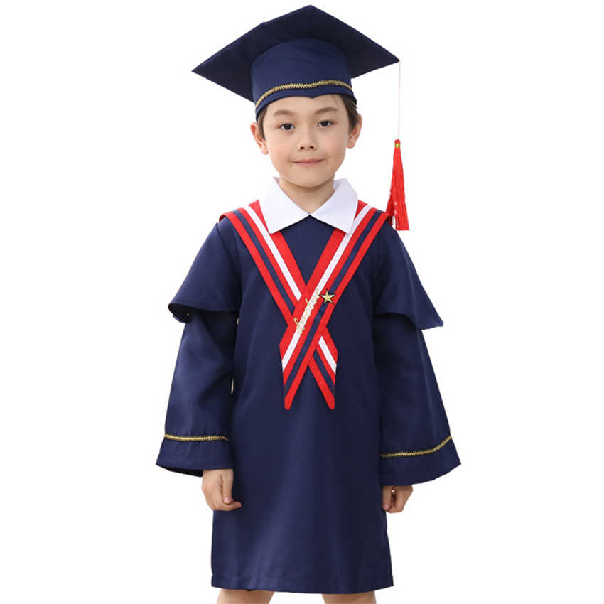 3a0924f625e ... Chilren Clothing Student Doctor Bachelor Gown Class Graduation Clothes+Cap  School Group Performance Unisex Kids ...