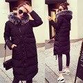 Winter Coats Women Long Sleeve Hooded Thick Cotton-padded Women's Jacket Long Warm Parkas