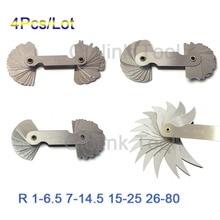 4 шт. радиус набор датчиков R1-6.5/R7-14.5/R15-25/R26-80mm из нержавеющей стали измерительные приборы