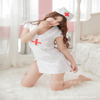 Seksowna bielizna lady pure white kostium pielęgniarki jednolite pokusa przebieranie