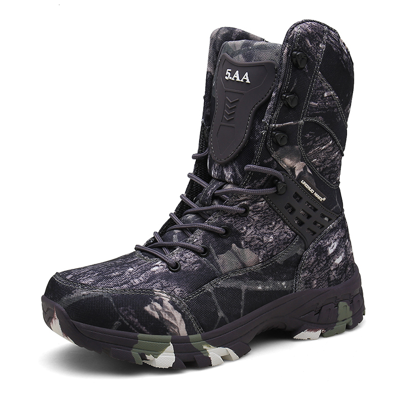 Military Boots Men Tactical Combat Ankle Boot Winter Autumn Army Work Shoes Male Outdoor Hiking Shoes