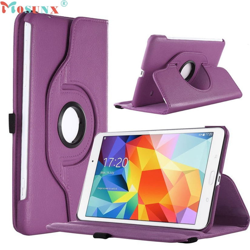 Mosunx Simple Stone   Luxury 360 Stand Case Cover for Samsung Galaxy Tab 4 8.0 8inch SM-T330 0922