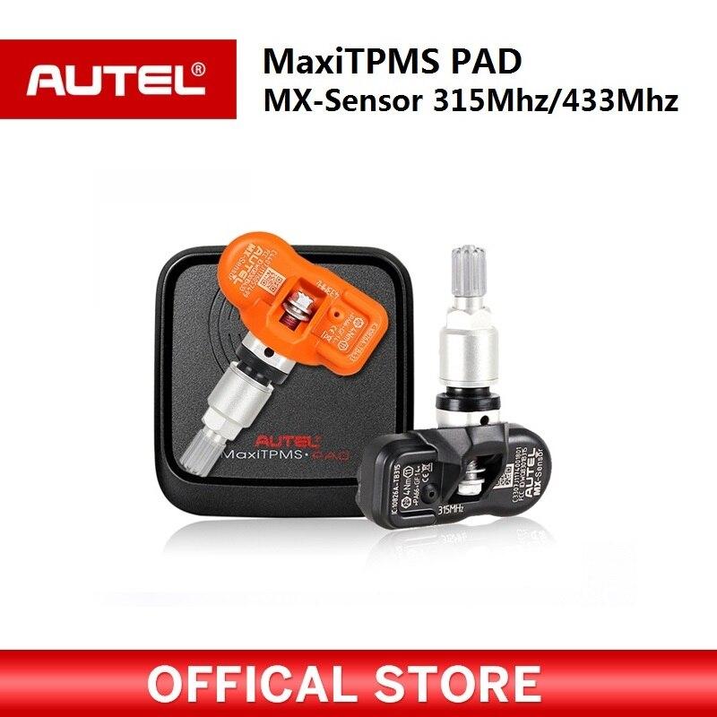 Autel MaxiTPMS PAD Pneu de Pression De Programmation autel TPMS Capteur MX-Capteur 433 mhz 315 mhz Mx Capteur TPMS scan outil pour autel ms906t