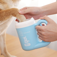 Pet Cat Dog Foot Clean Cup Cleaning Tool Portable Automatic Rotation Cat Dog Foot Clean Cup Pet Paw Pet Accessories