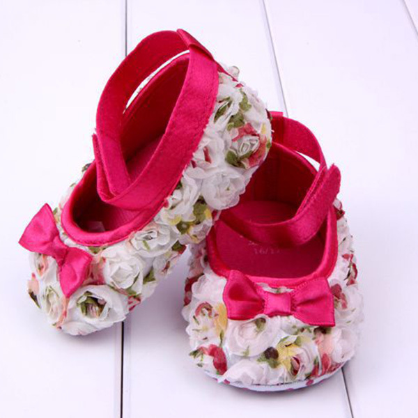 ec93744d69fa Baby Girls Shoes Bowknot Kids Infant Shoes Soft Sole Prewalker Size 4 5 6  High Quality-in First Walkers from Mother   Kids on Aliexpress.com