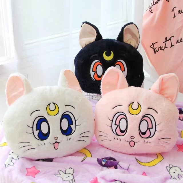 Candice guo! super cute plush toy Sailor Moon luna cat soft cushion pillow blanket creative birthday Christmas gift 1pc