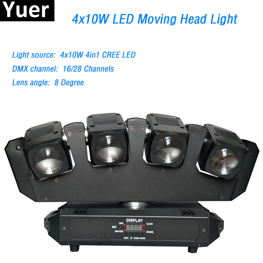 4X10W Led Moving Head Beam Light 4x10W 4in1 CREE Led Lamp DMX512 For Disco Stage Club led strip light box dj party stage light