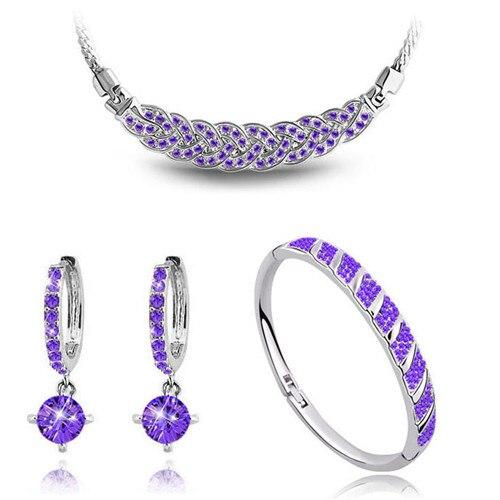 AAAA + steentjes twist ketting oorbel armband mode-sieraden sets - Mode-sieraden - Foto 4