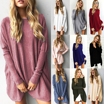 Sweater Tops Women 2018 Autumn Winter Long Sleeve Plus Size Pullovers Elegant Women Loose Female Sweater Clothing