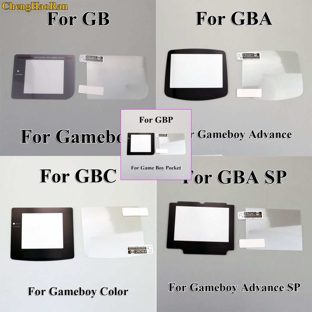 1set Plastic Screen with LCD Screen Protector Protective Film for Gameboy Color for GBA GBA SP GBC GB GBP for GBM Console-in Replacement Parts & Accessories from Consumer Electronics