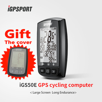 iGPSPORT Best Competitive gps cycle computer iGS50E workable with speed cadence,heart rate