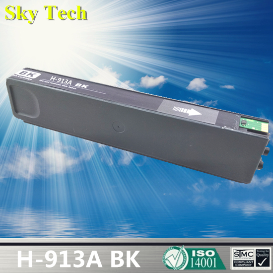 BK Pigment Ink Cartridge For HP913A BK , For HP PageWide 352dw 377dw Pro 452dw 452dn 452dwt 477dw MFP 477dwt 552dw