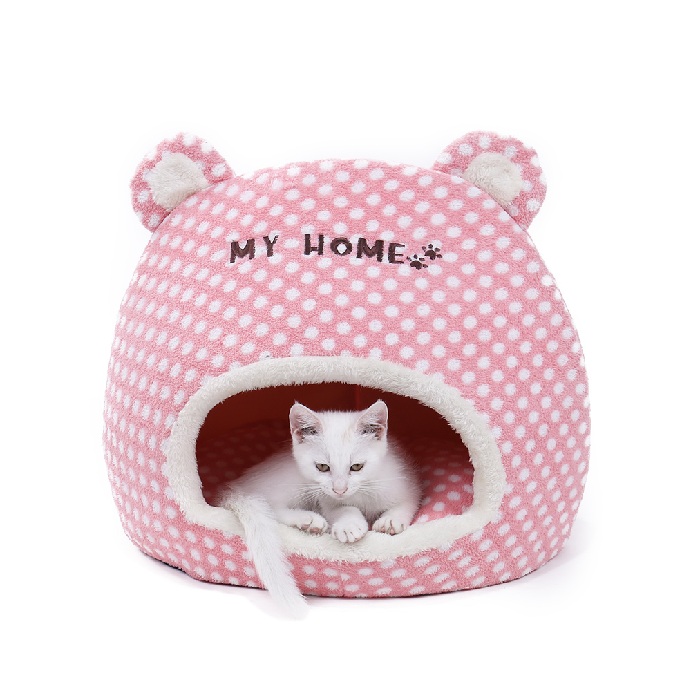 Free Shipping Cute Warm Soft House For Cat Basket Small Medium Puppy Litter Dog Bed Lounger For Animal Cama Home Kennel Cave #2
