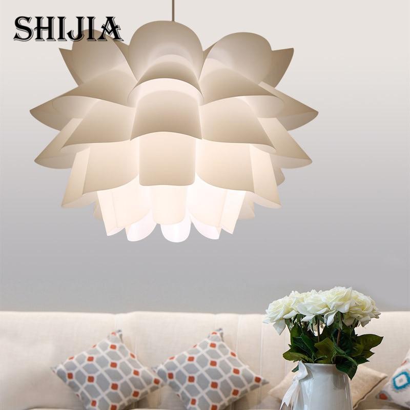 DIY Lily Lotus Pendant Lampshade Led E27 Pendant Light Cafe Restaurant Ceiling Room Decoration LED Hanging Lamp