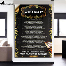 HD Printed 1 Piece Canvas Art Islam Scripture Painting WHO AM I Bible Wall Pictures for Living Room Free Shipping NY-6994D