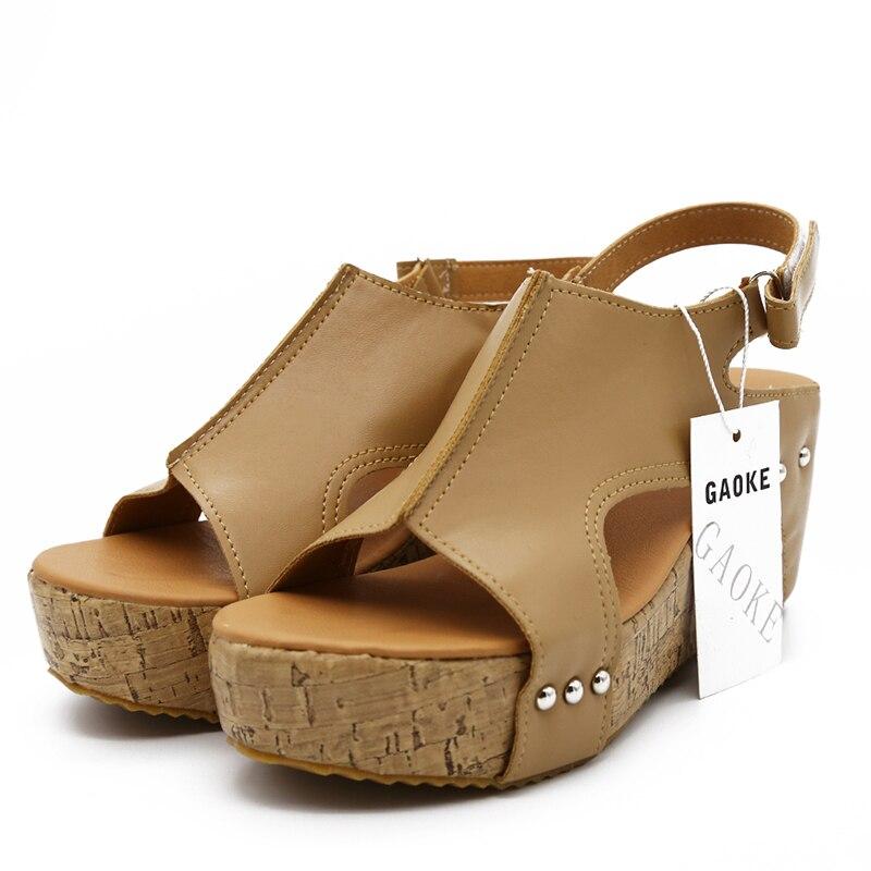HTB1GARJFStYBeNjSspkq6zU8VXau Women Sandals 2019 Platform Sandals Wedges Shoes For Women Heels Sandalias Mujer Summer Shoes Leather Wedge Heels Sandals 43