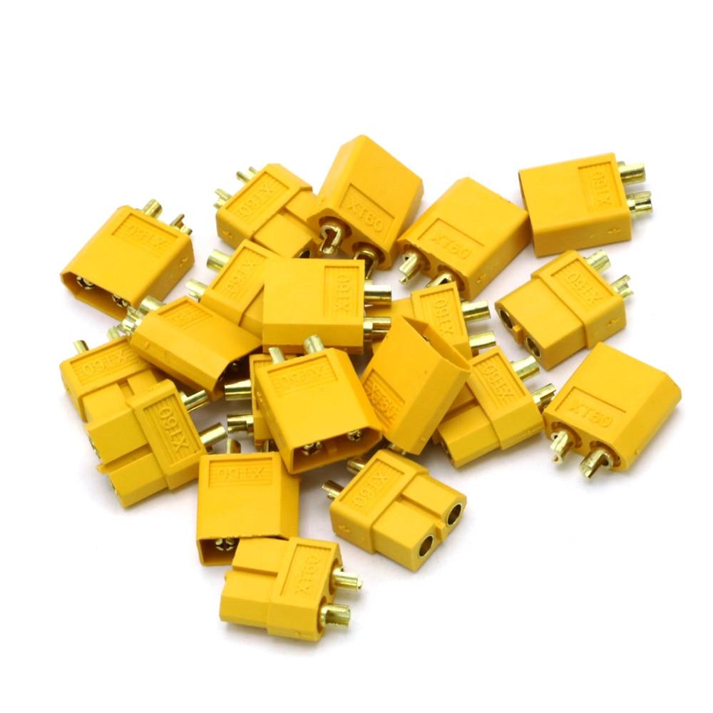 20pcs XT60 XT-60 Male Female Bullet Connectors Plugs For RC Lipo Battery (10 pair) Wholesale Dropship(China)