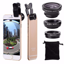 3 in 1 Wide Angle Macro Fisheye Lens Camera Kits Mobile Phone Fish Eye Lenses with Clip 0.67x for iPhone Samsung All Cell Phones 8mm f3 8 fish eye c mount wide angle fisheye lens focal length fish eye lens suit for nikon 1 aw1 v1 v2 v3 j1 j2 j3 j4 j5 s1 s2