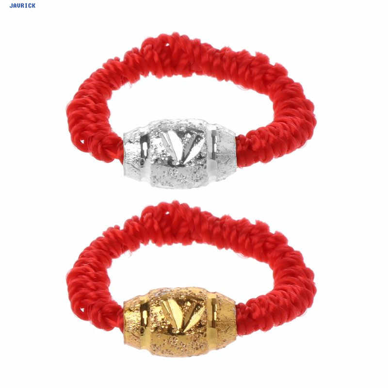 JAVRICK Handmade Kabbalah Red String Lucky Bead Protection Braided Rings Fashion Jewelry