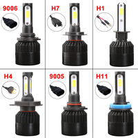 ISincer Car Styling Car LED Headlight 80W 8000LM H1 H4 H7 LED Headlamp Kit Hi Lo