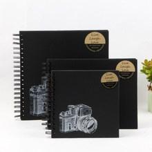 Camera Photo Album DIY Kraft Paper Black Cardboard Photo Album Personality Special Paper Cover Graduation Album