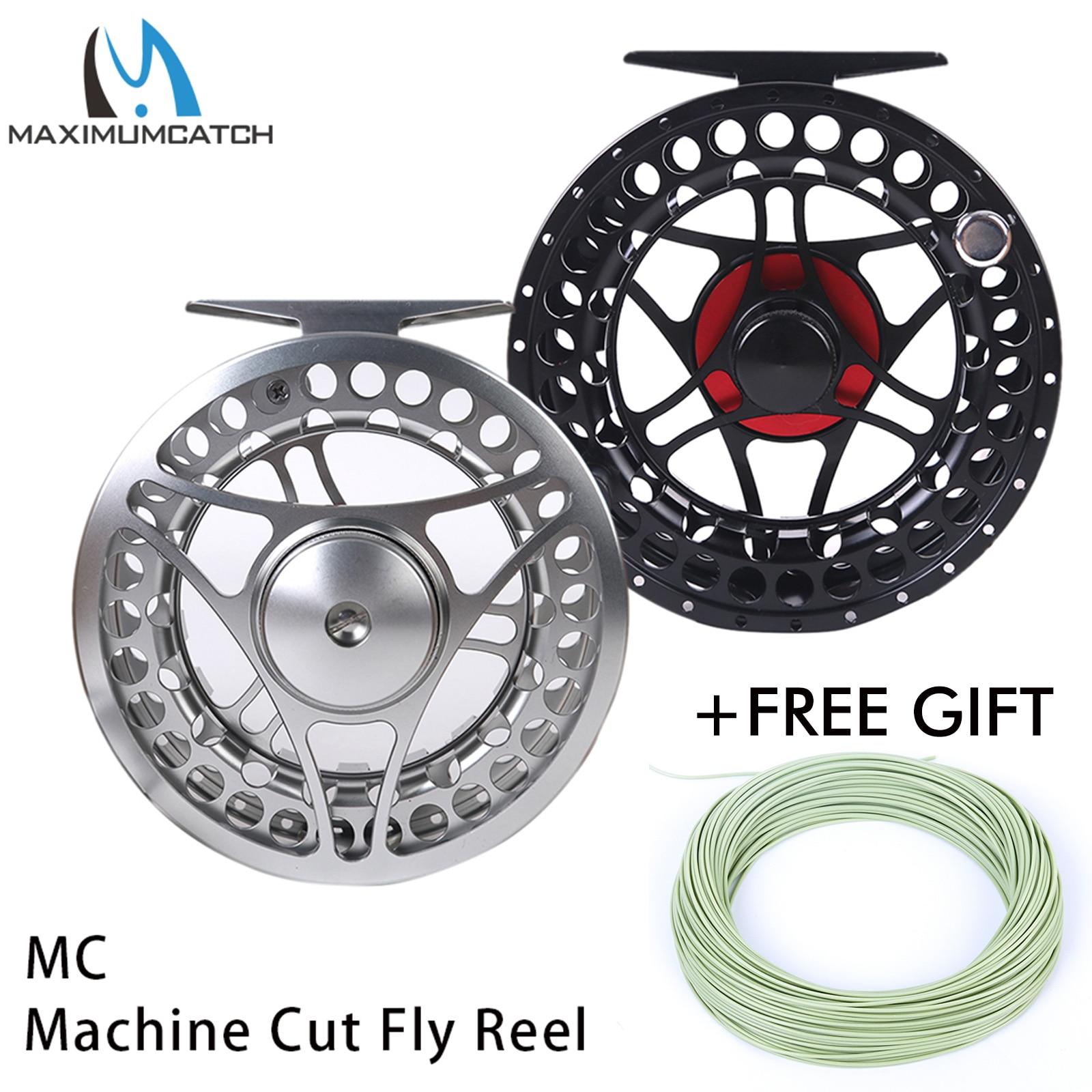 Maximumcatch 2 11WT Fly Fishing Reel CNC Machine Cut Large Arbor Aluminum Fly Reel