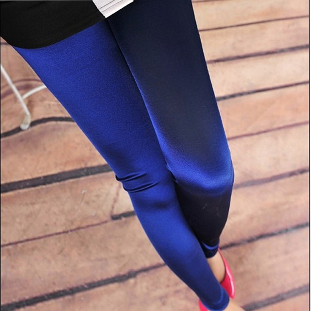 05b1199ae84e8 The new version of pure bright Silk Satin Leggings ultra smooth nine jeans  wholesale