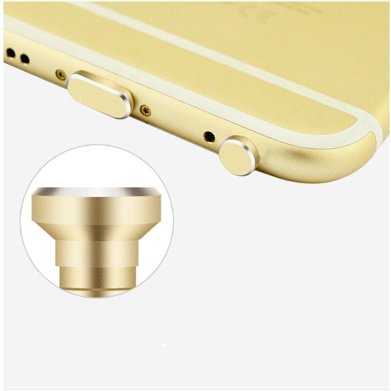 Мода металл Dust Разъем телефон 2 в 1 для iPhone 6 6s 6 + плюс мобильный телефон Micro USB 3,5 мм sim-карты Лоток Eject Pin инструмент доступа