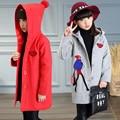 2017 Jaqueta Menina Outerwear Bebê Menina Casaco Crianças Primavera Outono Hoodies Roupas Japonês Versão Coreana das Crianças Dos Desenhos Animados Roupas