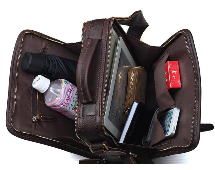 TIPOVANJE navpične vreče iz pravega usnja Tote Organizer Bag za - Torbice - Fotografija 5