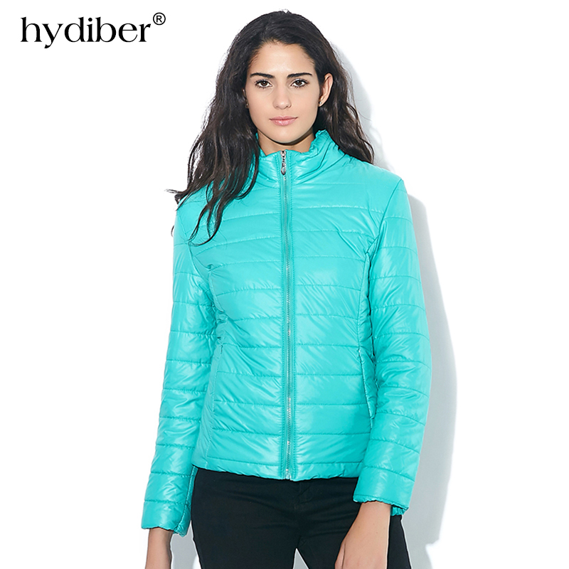 HYDIBER 2015 NEW Brand Women Jacket To Keep Warm In Winter Padded Silk Ladies Fashion Casual Slim Padded Winter Jacket 8 Colors brand new smt yamaha feeder ft 8 2mm feeder used in pick and place machine