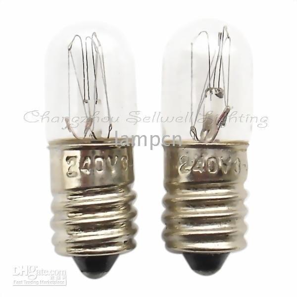 240v 3/4w E10 10x28 NEW!miniature Lamps Bulbs A351